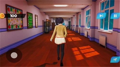 动漫高中樱花女孩生活