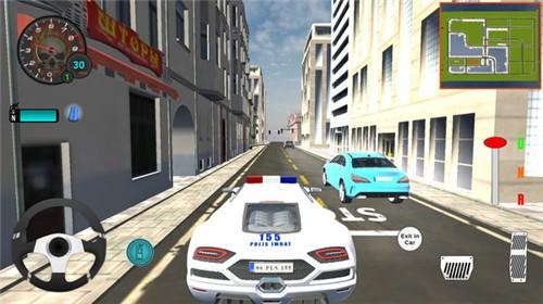 豪华警车模拟器截图0
