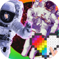 宇航员太空像素艺术