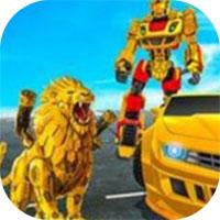 超级英雄飞狮机器人变形